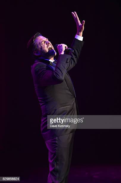 Raul Esparza performs on stage at the Jazz at Lincoln Center 2016 Gala 'Jazz and Broadway' honoring Diana and Joe Dimenna and Ahmad Jamal at...