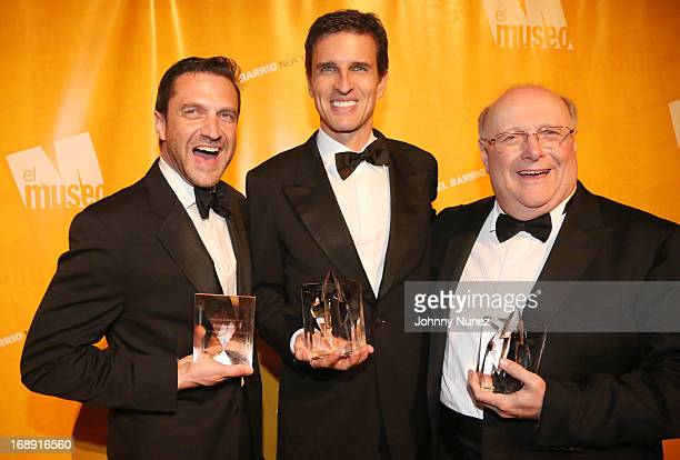 Raul Esparza Ricardo Villela Marino and Ramiro Ortiz Mayorga attend El Museo's Gala at Cipriani 42nd Street on May 16 2013 in New York City