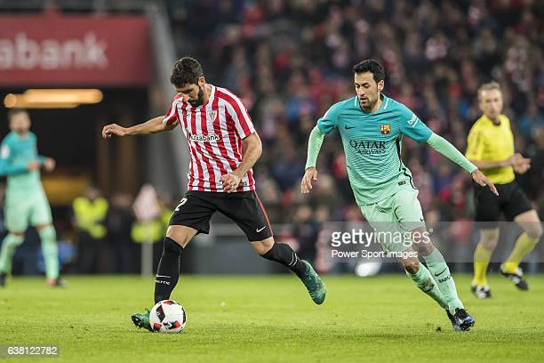 Raul Garcia of Athletic Club in action during their Copa del Rey Round of 16 first leg match between Athletic Club and FC Barcelona at San Mames...