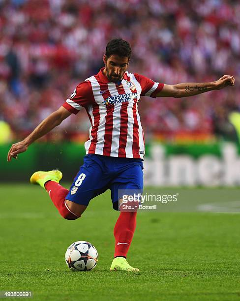 Raul Garcia of Club Atletico de Madrid in action during the UEFA Champions League Final between Real Madrid and Atletico de Madrid at Estadio da Luz...