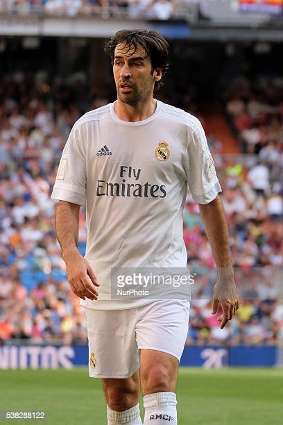Raul Gonzalez of Real Madrid Legends in action during the Corazon Classic charity match between Real Madrid Legends and Ajax Legends at Estadio...