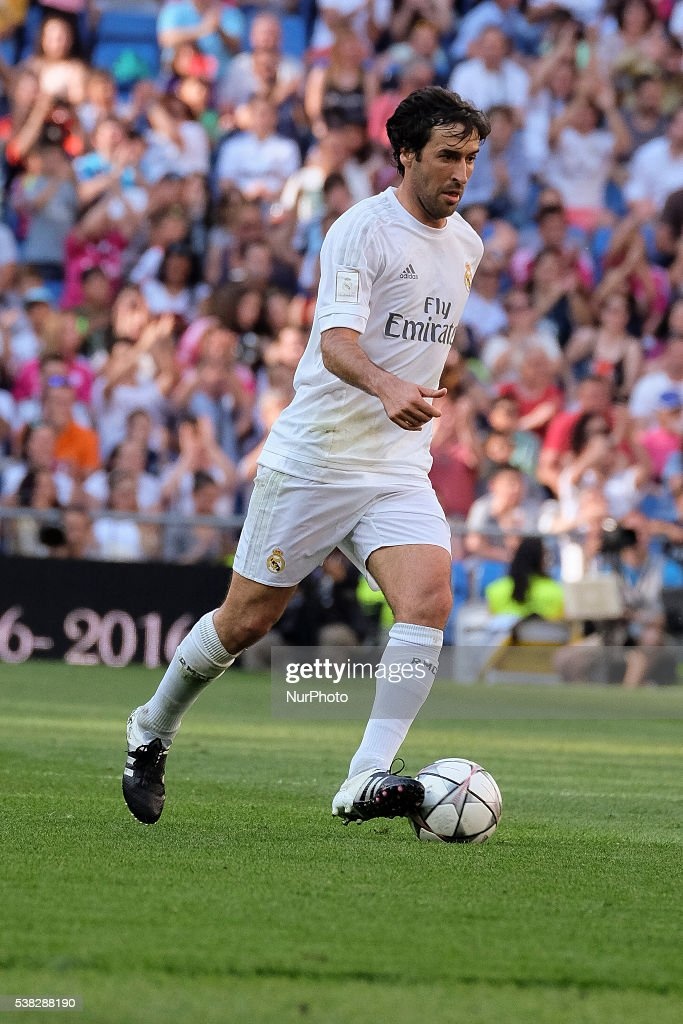 Raul Gonzalez of Real Madrid Legends in action during the Corazon Classic charity match between Real Madrid Legends and Ajax Legends at Estadio Santiago Bernabeu on June 5, 2016 in Madrid, Spain.