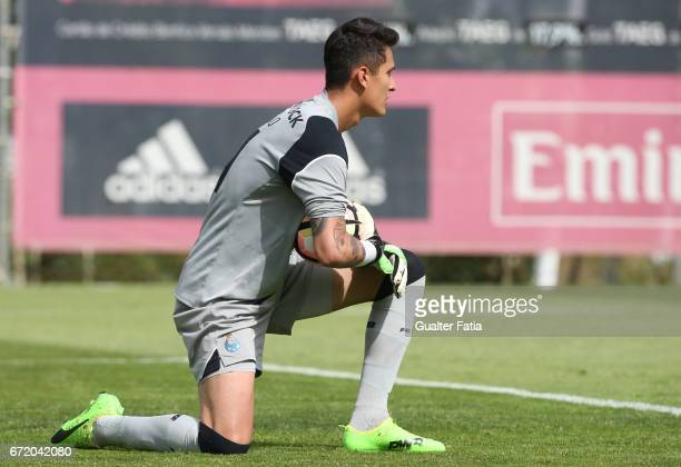 Raul Gudino of FC Porto B in action during the Segunda Liga match between SL Benfica B and FC Porto B at Caixa Futebol Campus on April 23 2017 in...