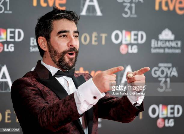 Raul Jimenez attends the 31st edition of the 'Goya Cinema Awards' ceremony at Madrid Marriott Auditorium on February 4 2017 in Madrid Spain