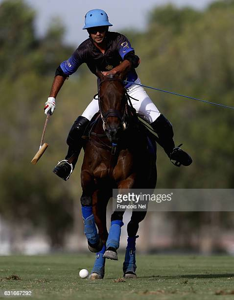 Raul Laplacette of Bin Drai Polo in action during the HH President of UAE Polo Cup match between Abu Dhabi Polo and Bin Drai Polo on January 14 2017...