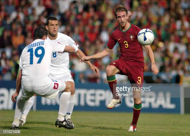Raul Meireles of Portugal during 2006 UEFA European Under 21 Championship Group A match between Portugal and Serbia and Montenegro in Barcelos...