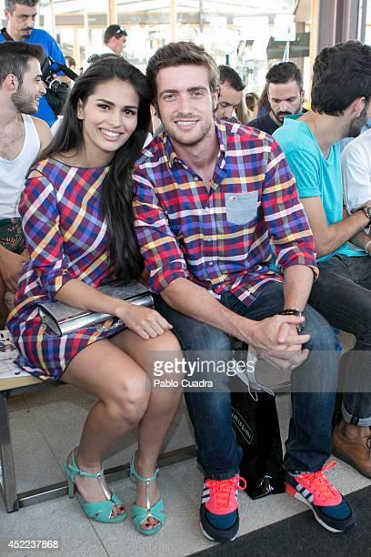 Raul Merida and Sara Salamo attend MFShow Men on July 16 2014 in Madrid Spain
