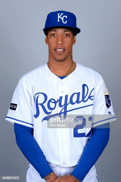 Raul Mondesi of the Kansas City Royals poses during Photo Day on Monday February 20 2017 at Surprise Stadium in Surprise Arizona