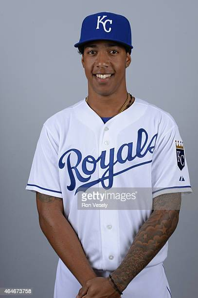 Raul Mondesi of the Kansas City Royals poses during Photo Day on Friday February 27 2015 at Surprise Stadium in Surprise Arizona