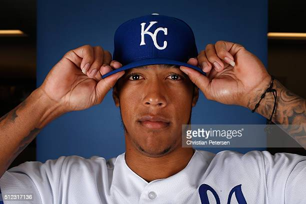 Raul Mondesi of the Kansas City Royals poses for a portrait during spring training photo day at Surprise Stadium on February 25 2016 in Surprise...
