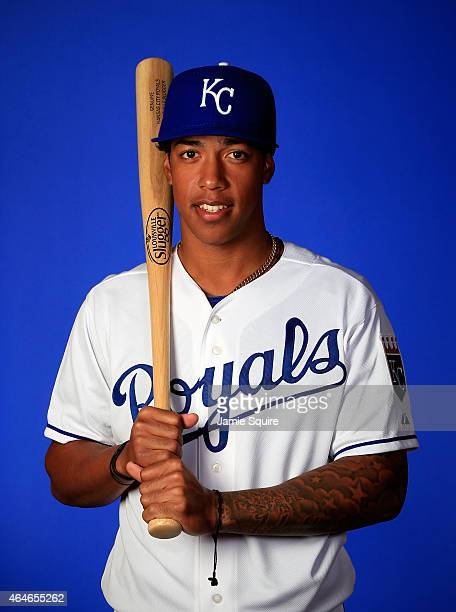 Raul Mondesi poses during Kansas City Royals Photo Day on February 27 2015 in Surprise Arizona