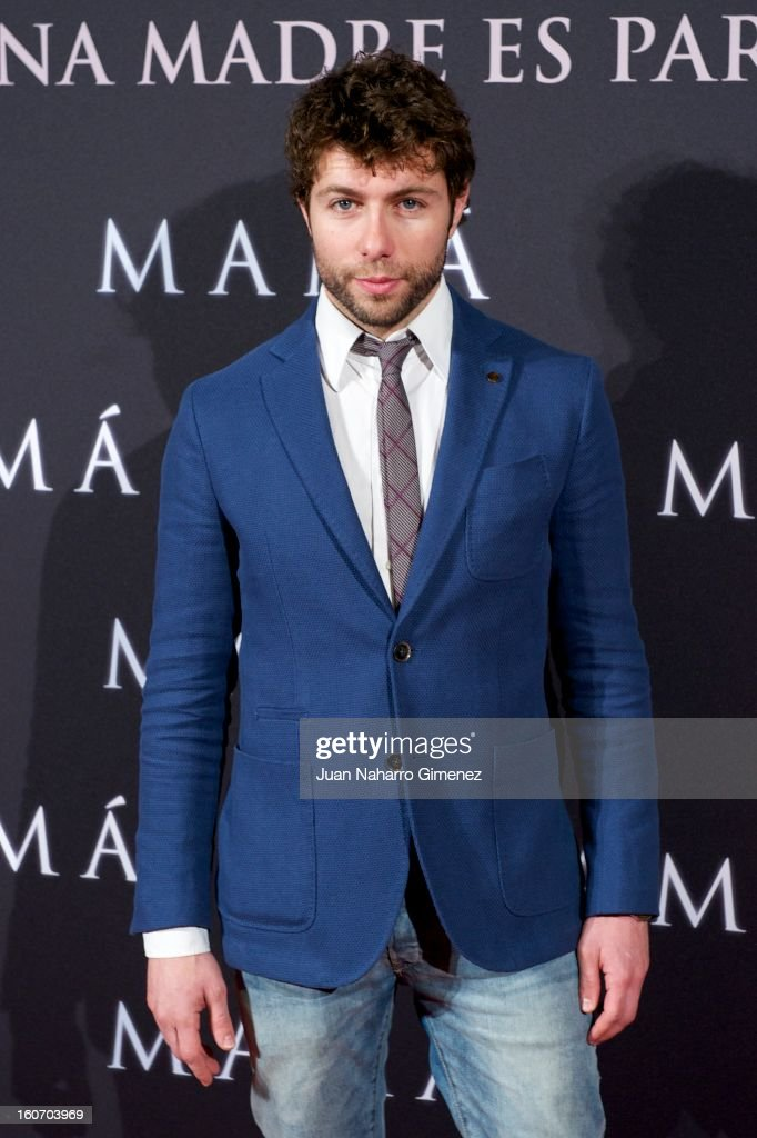 Raul Navarro attends the 'Mama' premiere at the Callao cinema on February 4, 2013 in Madrid, Spain.
