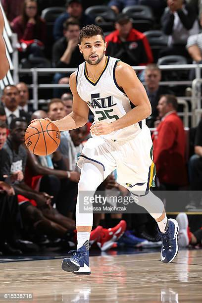 Raul Neto of the Utah Jazz handles the ball against the Los Angeles Clippers on October 17 2016 at vivintSmartHome Arena in Salt Lake City Utah NOTE...