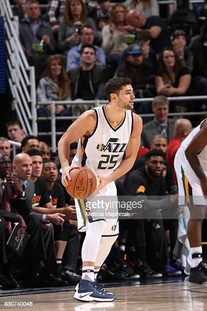 Raul Neto of the Utah Jazz handles the ball gainst the Phoenix Suns on December 31 2016 at vivintSmartHome Arena in Salt Lake City Utah NOTE TO USER...
