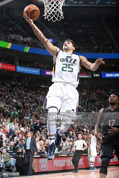 Raul Neto of the Utah Jazz shoots the ball against the Phoenix Suns on December 31 2016 at vivintSmartHome Arena in Salt Lake City Utah NOTE TO USER...