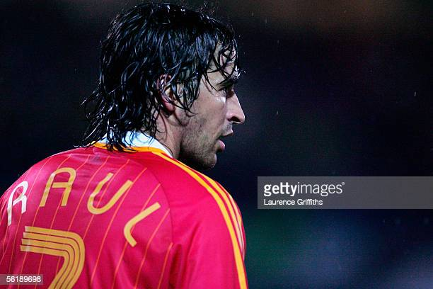 Raul of Spain during the FIFA 2006 World Cup Playoff match between Slovakia and Spain on November 16 2005 at The Slovana Stadium in Bratislava...