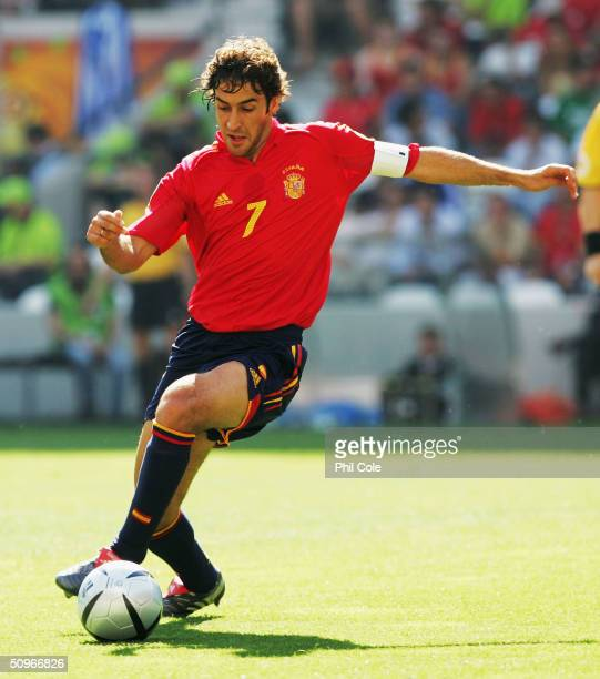 Raul of Spain in action during the UEFA Euro 2004 Group A match between Greece and Spain at the Estadio do Bessa Sec XXI on June 16 2004 in Porto...