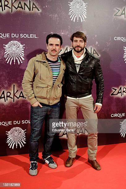 Raul Pena and Feliz Gomez attend 'Zarkana' premiere at Madrid Arena on November 17 2011 in Madrid Spain