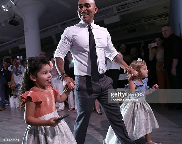 Raul Penaranda poses on the runway at Kia STYLE360 Hosts Raul Penaranda Spring 2017 Momentum Fashion Show on September 13 2016 in New York City
