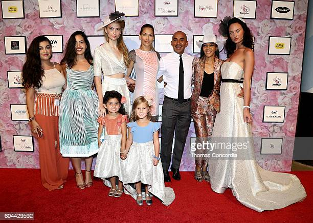 Raul Penaranda poses with guests and models at Kia STYLE360 Hosts Raul Penaranda Spring 2017 Momentum Fashion Show on September 13 2016 in New York...