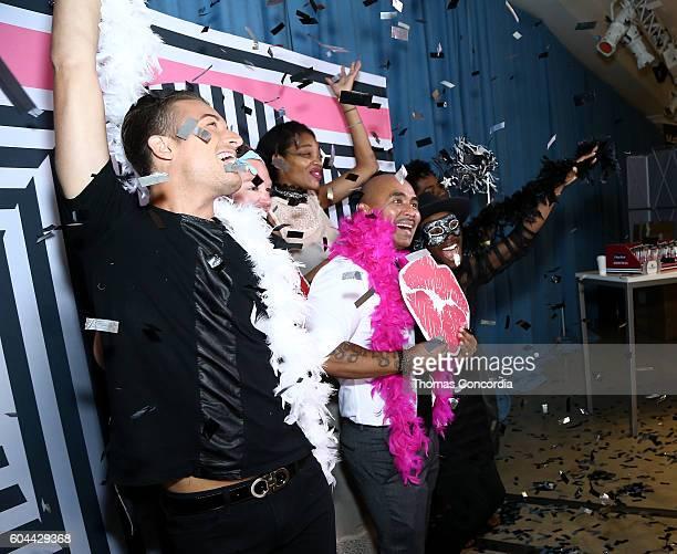 Raul Penaranda poses with guests at Kia STYLE360 Hosts Raul Penaranda Spring 2017 Momentum Fashion Show on September 13 2016 in New York City