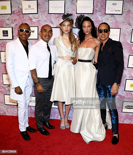 Raul Penaranda poses with models and guests at Kia STYLE360 Hosts Raul Penaranda Spring 2017 Momentum Fashion Show on September 13 2016 in New York...