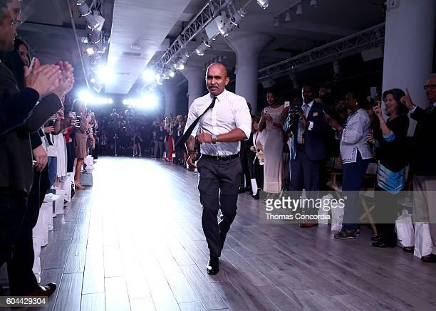 Raul Penaranda walks the runway at Kia STYLE360 Hosts Raul Penaranda Spring 2017 Momentum Fashion Show on September 13 2016 in New York City