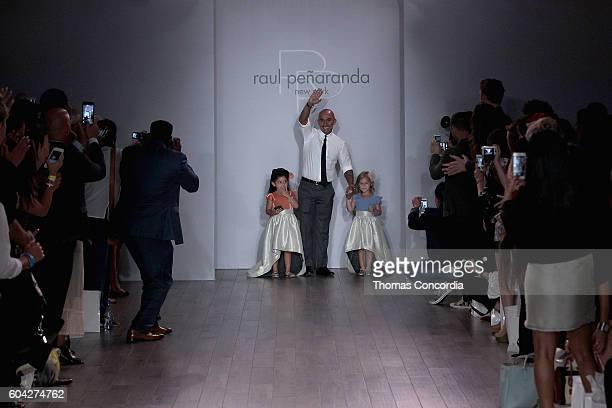 Raul Penaranda walks the runway with models at Kia STYLE360 Hosts Raul Penaranda Spring 2017 Momentum Fashion Show on September 13 2016 in New York...
