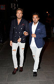 Raul Prieto and Fidel Albiac attend Terelu's 50th birthday party on September 23 2015 in Madrid Spain