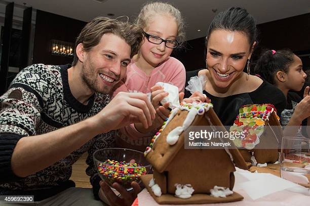 Raul Richter and Esther Sedlaczek attend the 'SOS Kinderdorf' Christmas Bakery at Grand Hyatt Hotel on November 28 2014 in Berlin Germany