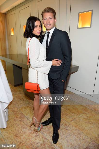 Raul Richter and his girlfriend Jessy attend the 14th SPA Diamond Award at Hotel Palace Berlin on July 3 2017 in Berlin Germany