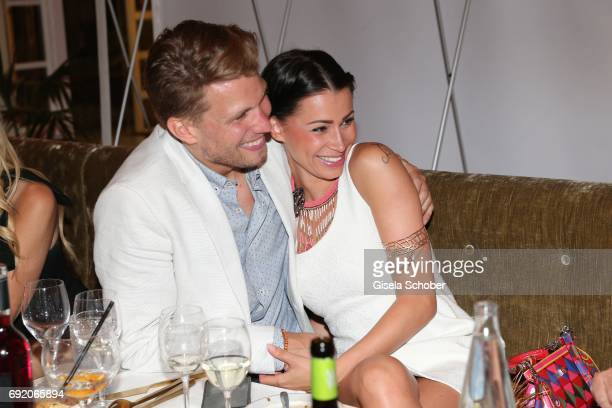 Raul Richter and his girlfriend Jessy during the Zhero hotel and 'Bahia Mediterraneo' restaurant opening on June 3 2017 in Palma de Mallorca Spain