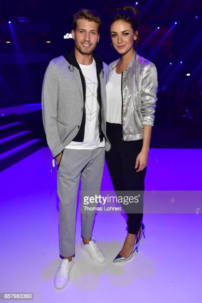 Raul Richter and Janina Uhse attend the sOliver THE FUSION COLLECTION Fashion Show at Festhalle on March 25 2017 in Frankfurt am Main Germany