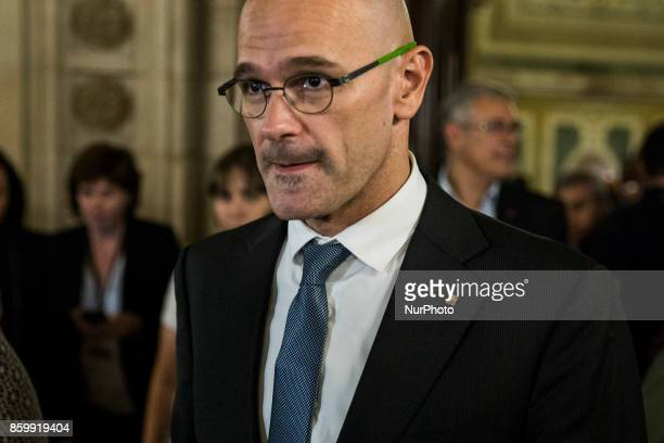 Raul Romeva member of the european parliament for de Catalunya during speech at the parliament where he could declare the independence of Catalonia...