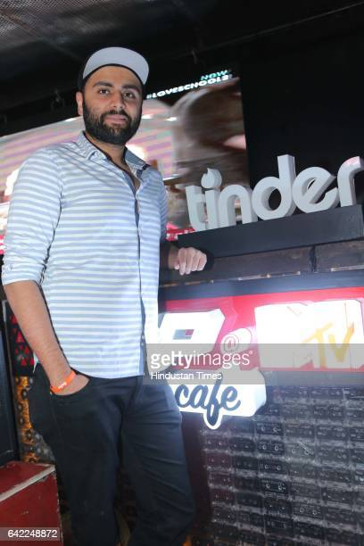 Raunaq Singh Kohli during an event to celebrate Valentine's Day Swipe Right Night hosted by FLYP@ MTV Cafe collaborating with Tinder the popular...