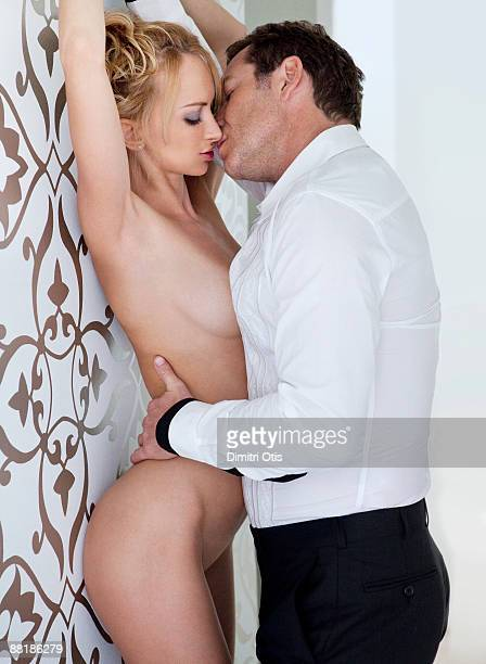 raunchy shot of man with naked woman