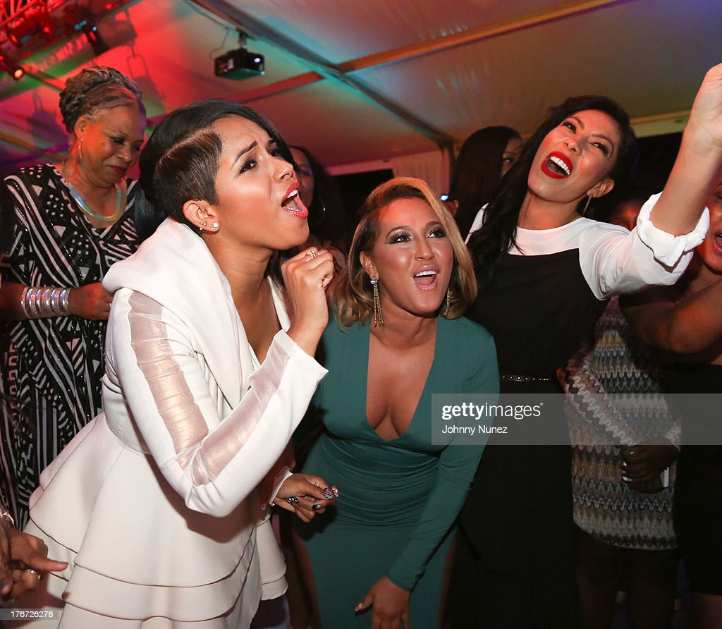 RaVaughn, Adrienne Balion and Bridget Kelly attend the 2nd annual Compound Foundation Fostering A Legacy Benefit on August 17, 2013 in East Hampton, New York.