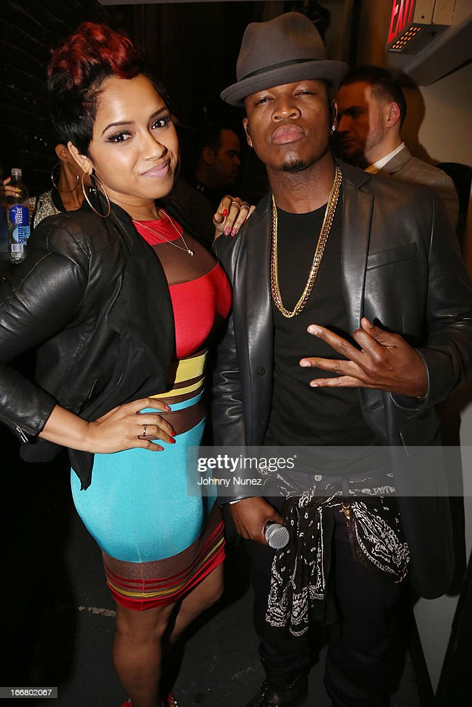 RaVaughn Brown and Ne-Yo attend the 2nd Annual DJ Prostyle's Birthday Bash at Hammerstein Ballroom on April 16, 2013 in New York City.