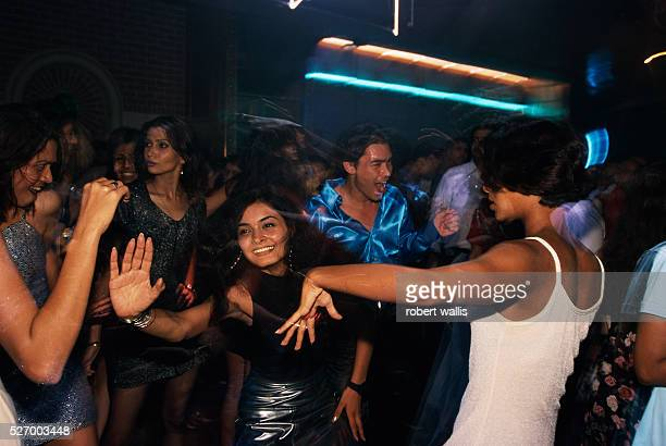 Rave party at a Bangalore warehouse produced by MTV and Kingfisher beer