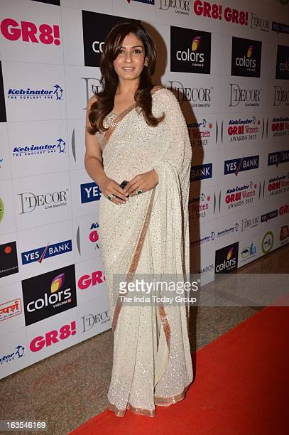 Raveena Tandon at the Gr8 Women's Achievers Awards 2013 at Hotel Lalit in Mumbai