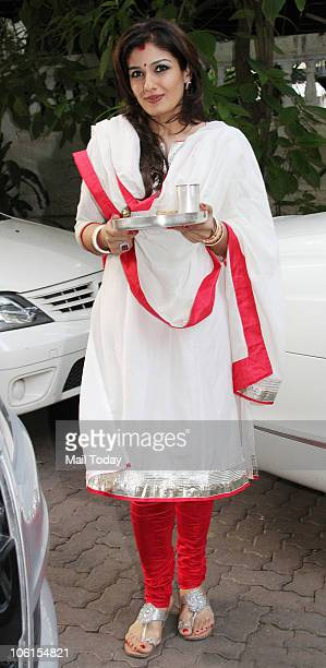 Raveena Tandon during a Karva Chauth celebration event in Mumbai on October 26 2010