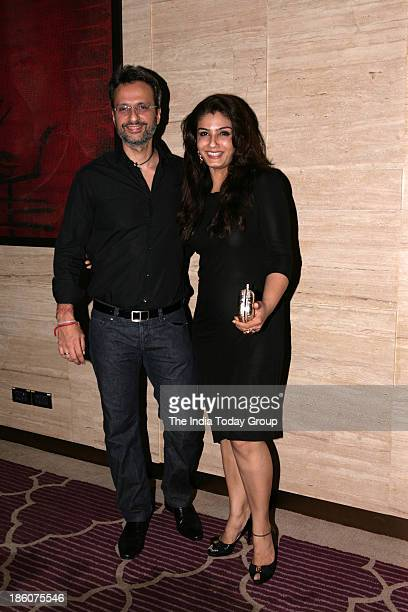 Raveena Tondon and Anil Thadani during Asins birthday bash at JW Marriott in Mumbai