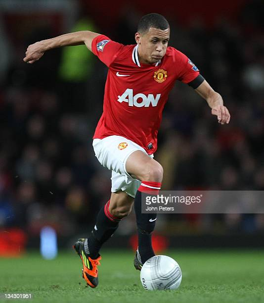 Ravel Morrison of Manchester United in action during the Carling Cup Quarter Final match between Manchester United and Crystal Palace at Old Trafford...