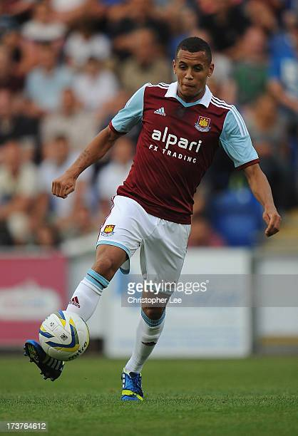 Ravel Morrison of West Ham United during the Pre Season Friendly match between Colchester United and West Ham United at Colchester Community Stadium...
