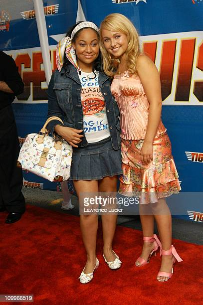 Raven and Hayden Panettiere during Disney Channel Presents The New York Premiere of Tiger Cruise at The Intrepid SeaAirSpace Museum in New York City...
