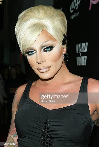 Raven attends 'RuPaul's Drag Race' Season 3 Premiere Party sponsored by ABSOLUT at RAGE Nightclub on January 18 2011 in West Hollywood California
