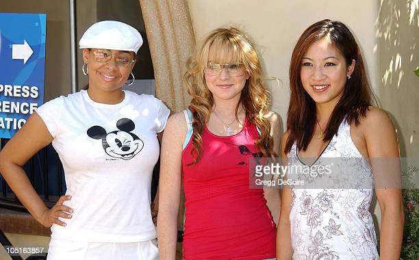 Raven Lindsay Lohan Michelle Kwan during ABC Primetime Preview Weekend at Disney's California Adventure in Anaheim California United States