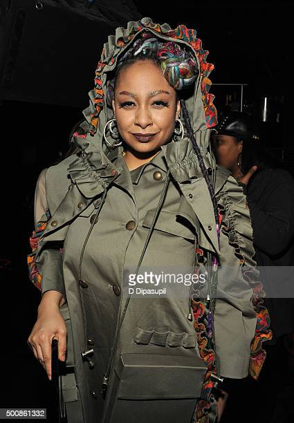 Raven Symone attends as WE tv Celebrates The Premiere Of New Series Growing Up Hip Hop on December 10 2015 in New York City