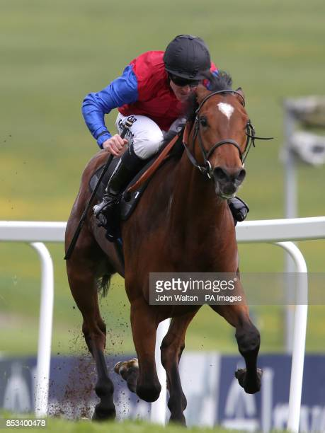 Ravenous ridden by Jim Crowley comes home to win The Investec Specialist Cash Products Maiden Stakes during the Investec Spring Meeting at Epsom...