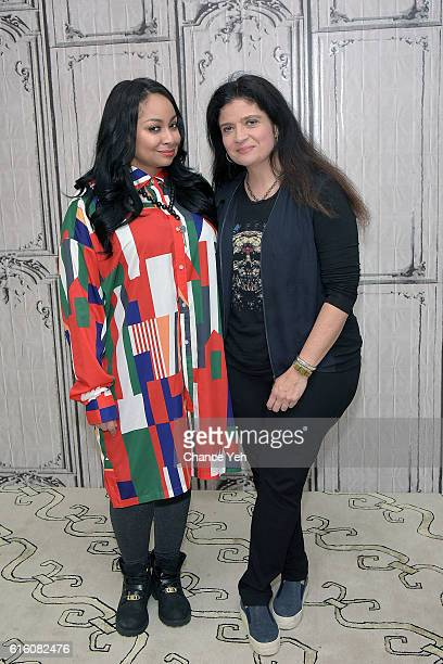 RavenSymone and Alex Guarnaschelli attend The Build Series to discuss 'Chopped' at AOL HQ on October 21 2016 in New York City